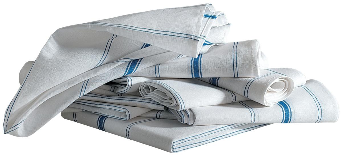 Torchon blanc tissu 50x77 cm (12 pièces)