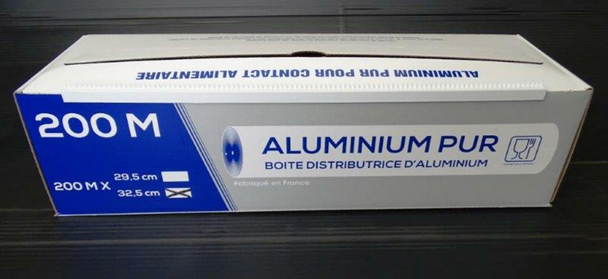Aluminium en boîte distributrice taille 0,33x200 m