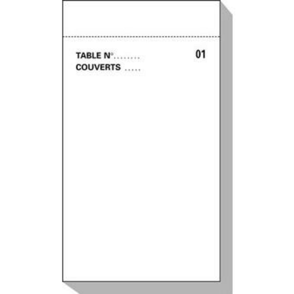 Bloc commande triplicopiant blanc papier 8x15 cm Cogir