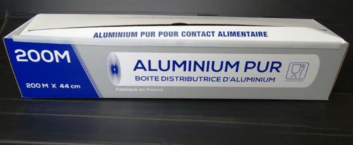 Aluminium en boîte distributrice taille 45x200 cm