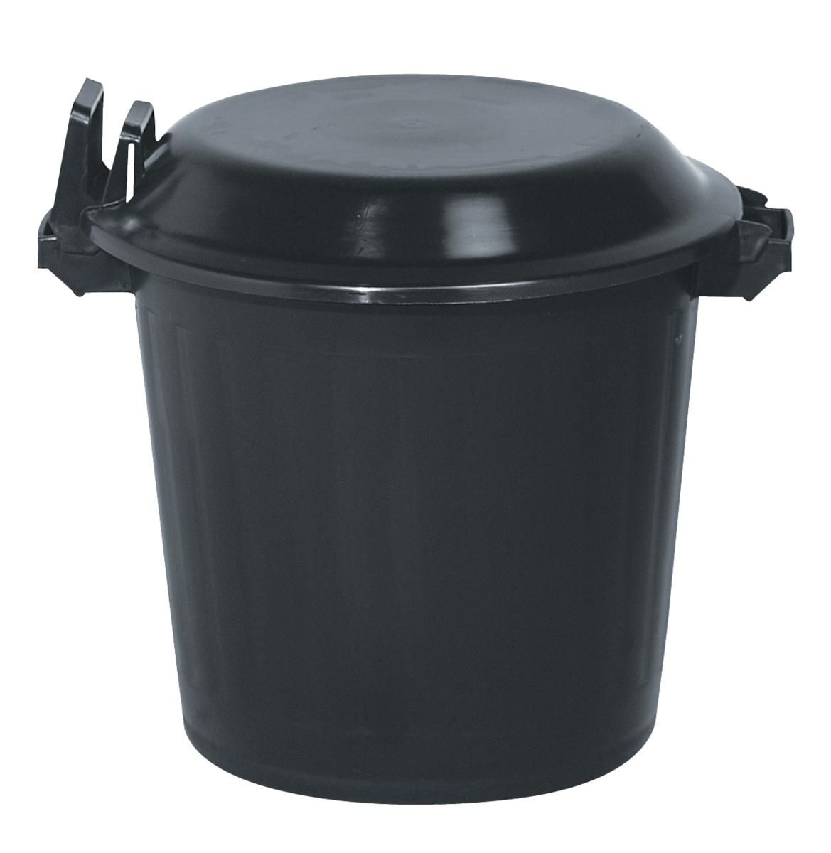 Couvercle de poubelle noir plastique Ø 55 cm