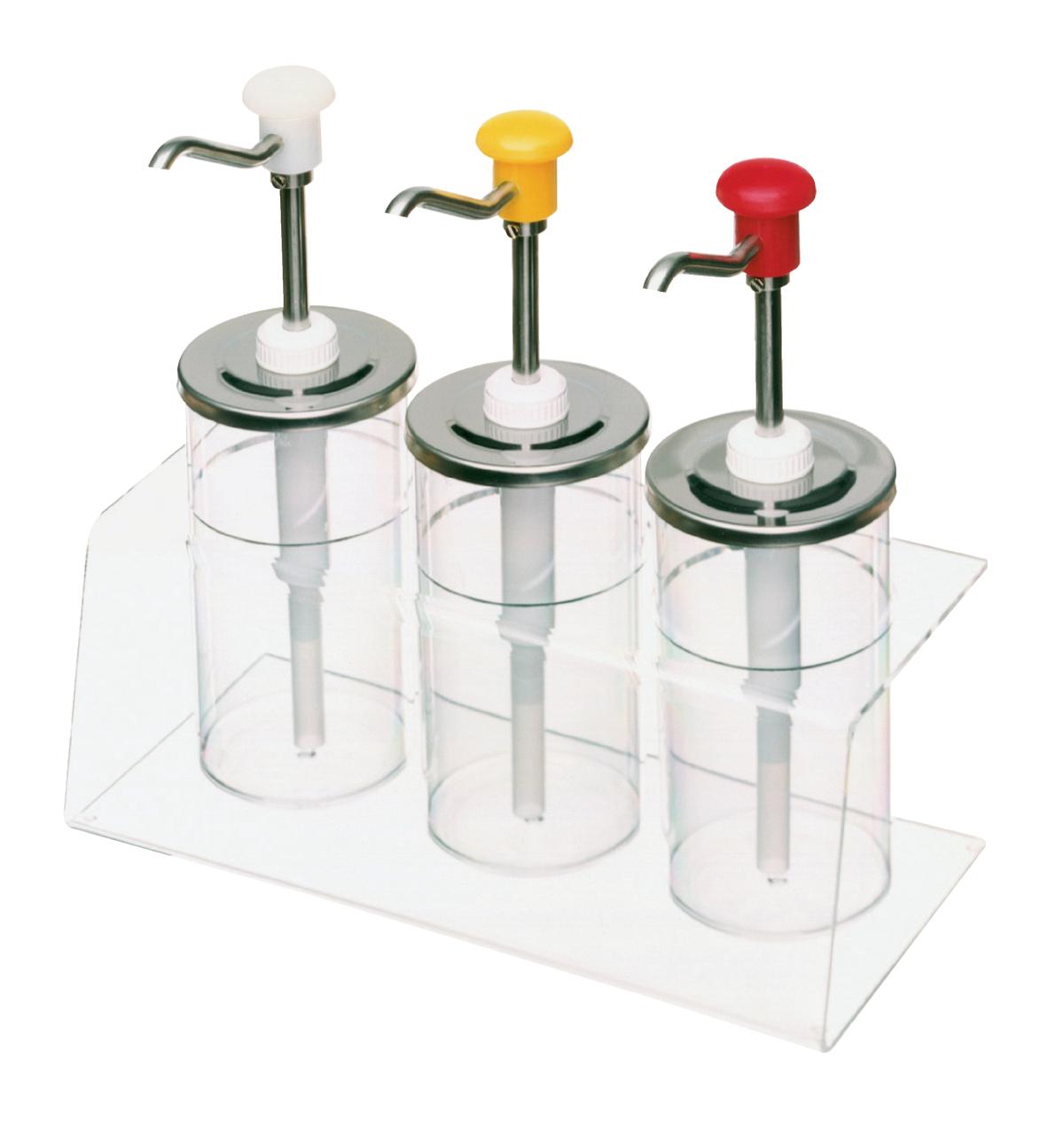 Récipient pour bar à sauce transparent plastique