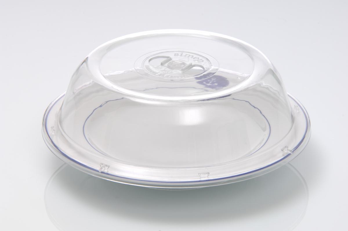 Couvre assiette rond transparent plastique Ø 25,40 cm