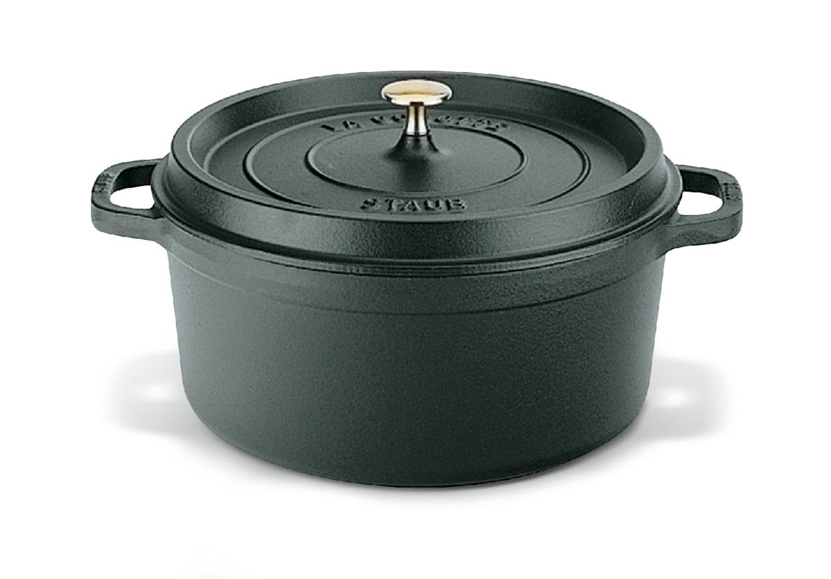Cocotte noire fonte d'acier Ø 26 cm 5,25 l Staub