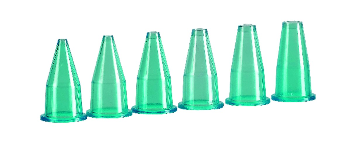 Douilles unies plastique Ø 3,50 cm (6 pièces)