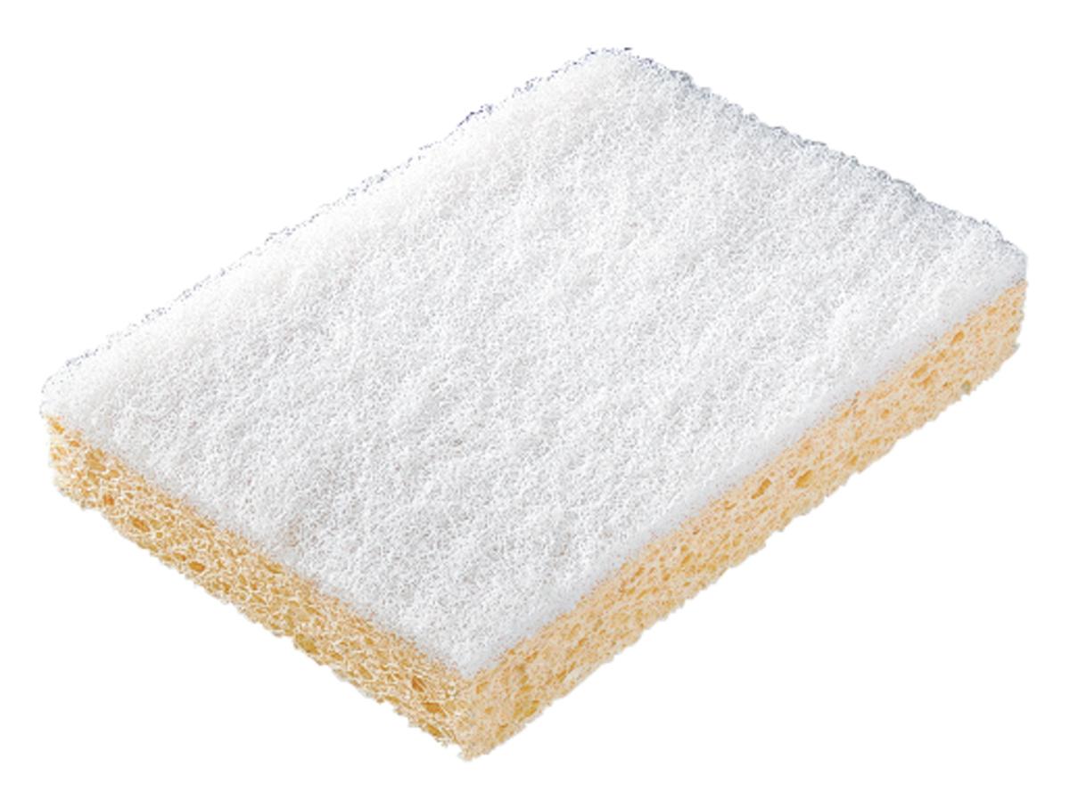 Lot de 10 tampons abrasifs sur éponge blanc 8,50x12,50 cm (10 pièces)