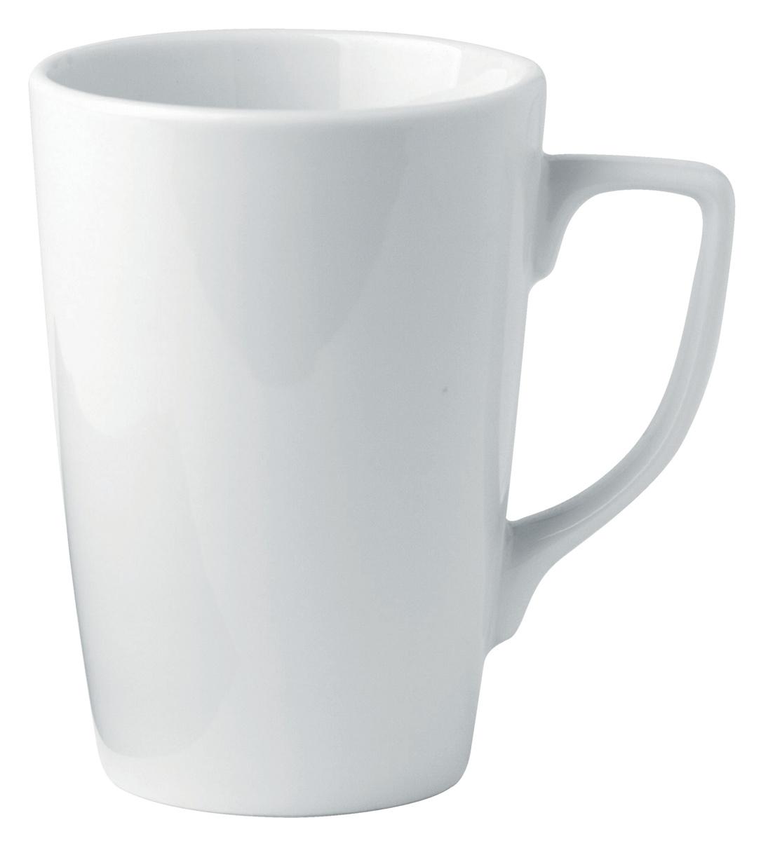 Mug rond blanc porcelaine 24 cl Ø 7,80 cm Ameryka