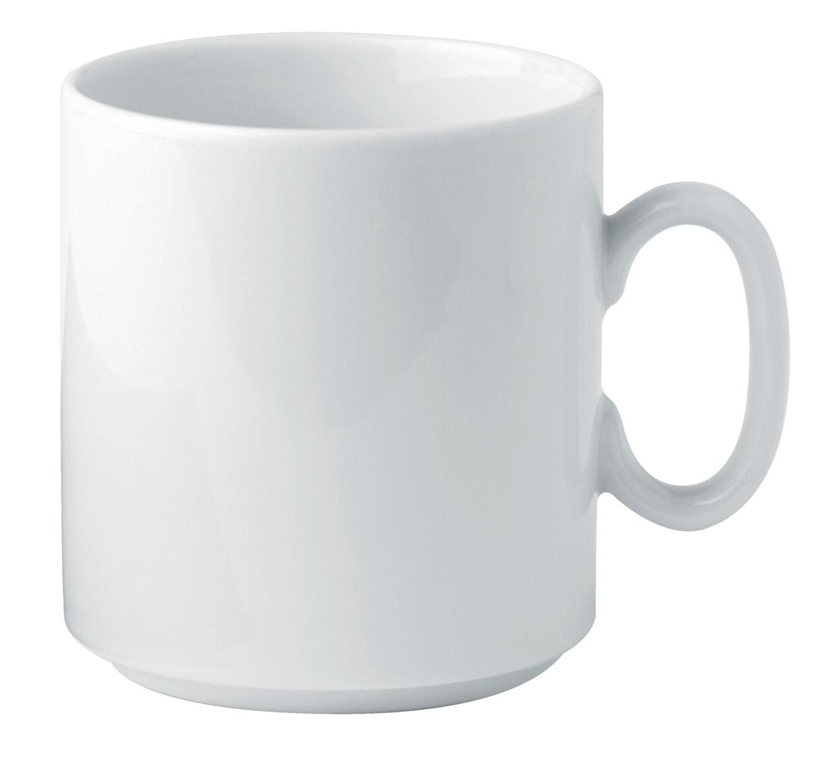 Mug rond blanc porcelaine 30 cl Ø 8 cm K