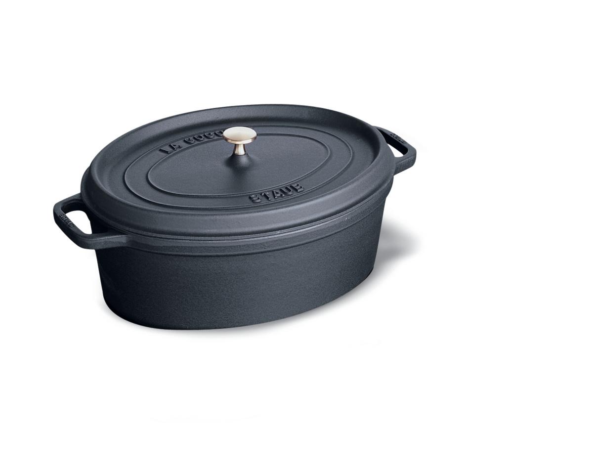 Cocotte noire fonte d'acier 28x31 cm 5,50 l Staub