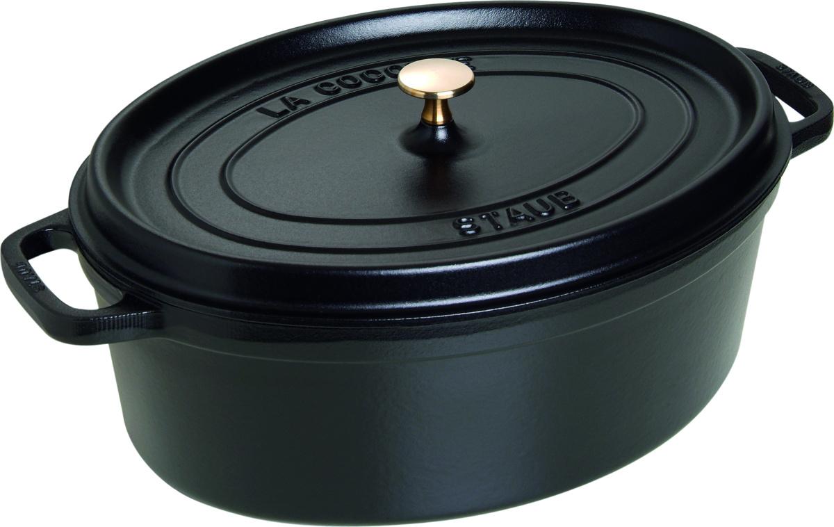 Cocotte noire fonte d'acier 33x37 cm 8 l Staub