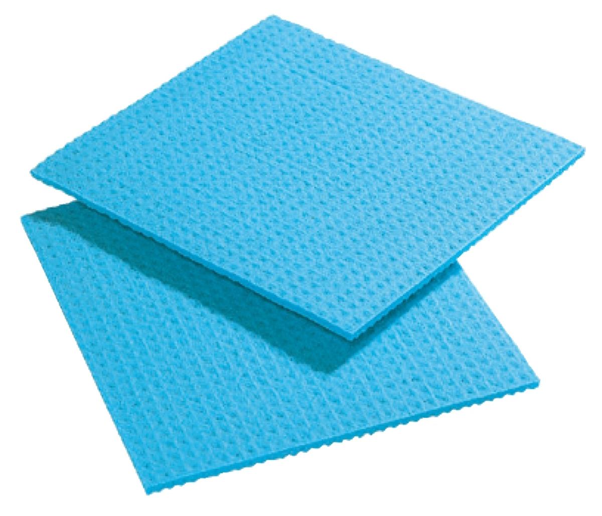 Lot de 10 essuie-vaisselle pour égouttoir bleu 30x31 cm Spontex (10 pièces)