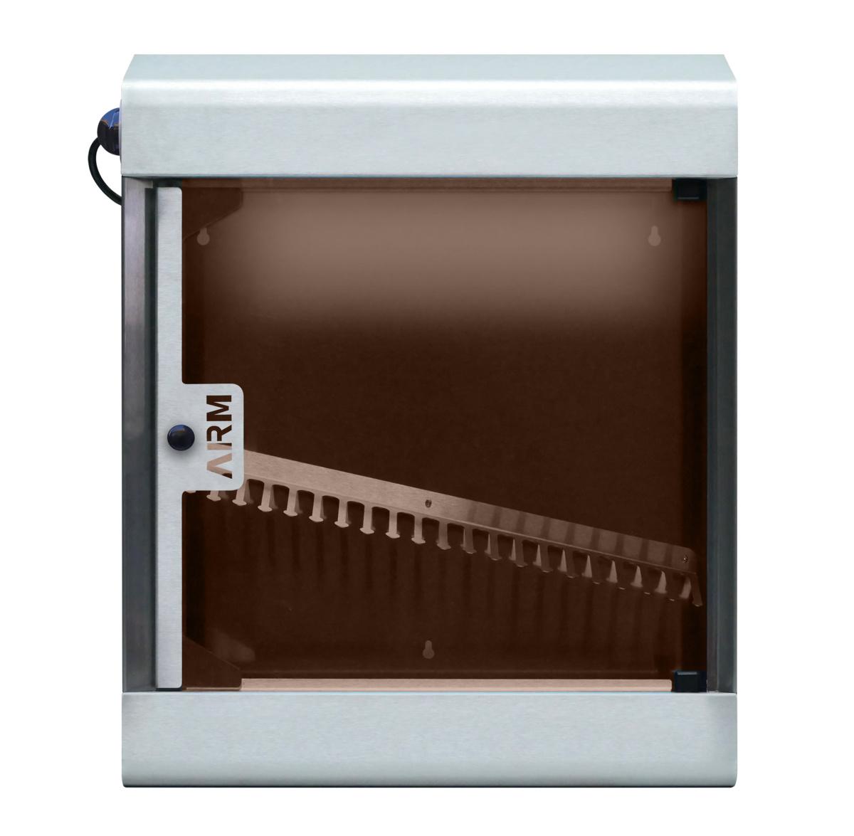 Armoire de stérilisation inox 60x51x12,50 cm basket 20 couteaux 15 W 230v Brc