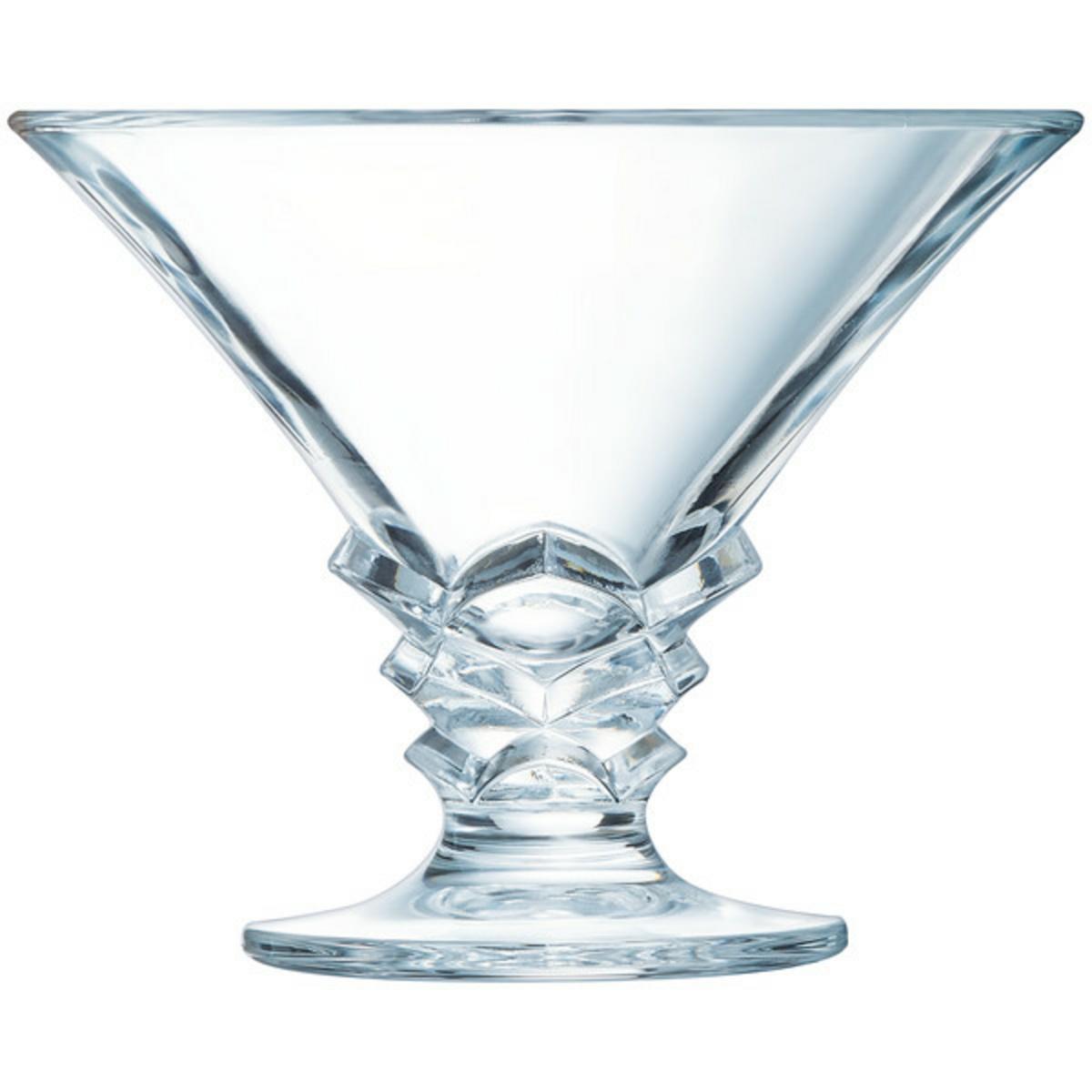 Coupe à dessert transparente verre 21 cl Ø 12,50 cm Palmier Arcoroc