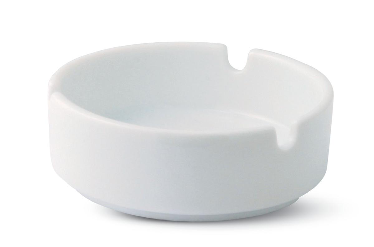 Cendrier rond blanc Ø 8,50 cm