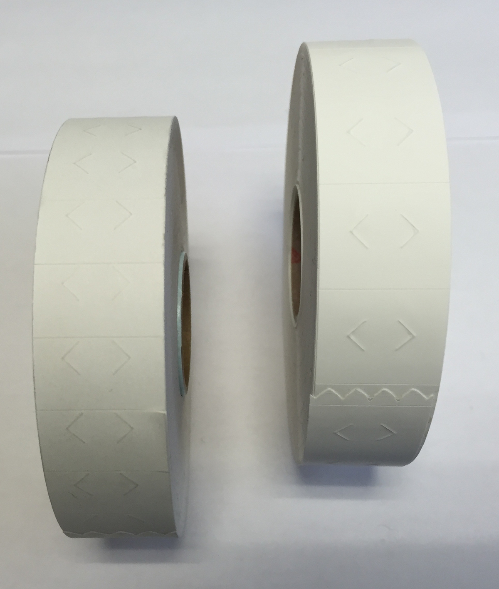 étiquettes neutres 2 lignes papier 1,60x2 cm Avery (14000 pièces)