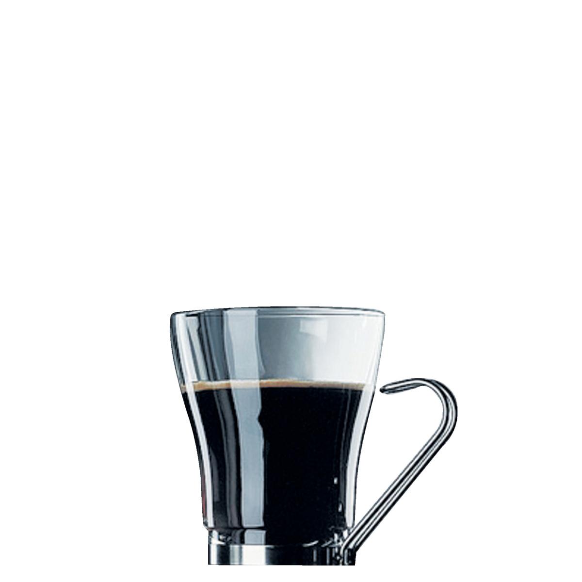 Tasse à cappuccino ronde transparente verre 22 cl Ø 8,20 cm Oslo Punch Bormioli Rocco