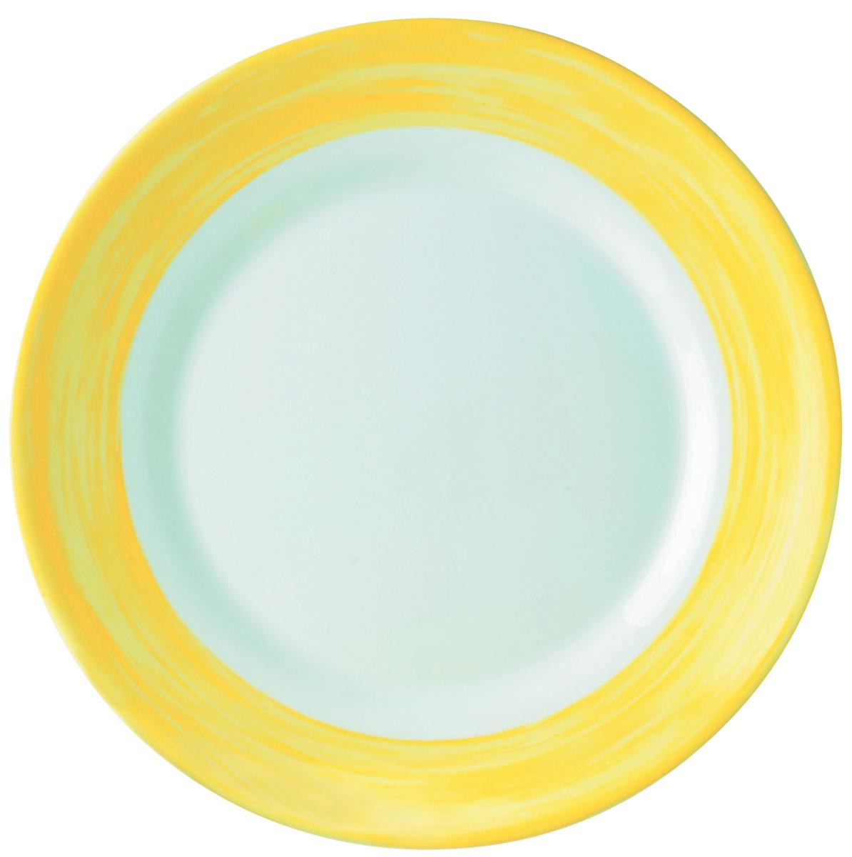 Assiette creuse ronde jaune verre Ø 22,50 cm Brush Arcoroc