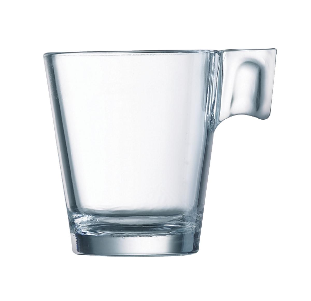 Tasse à café ronde transparente verre 8 cl Ø 7,60 cm Aroma Arcoroc