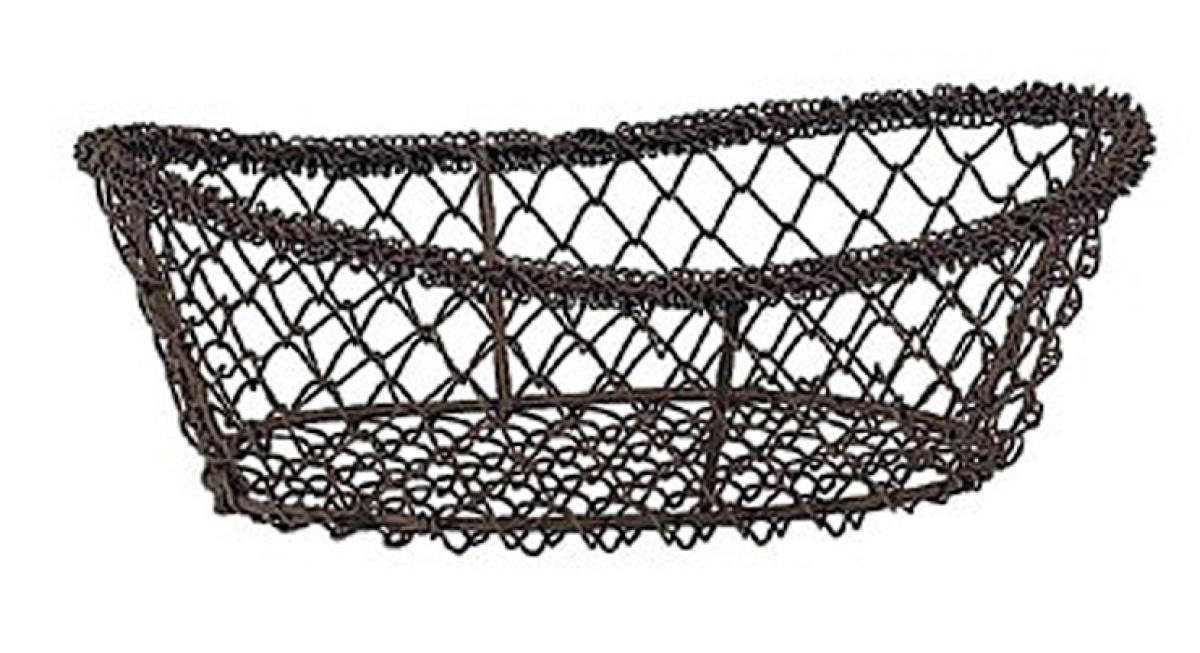 Corbeille ovale noire 15x23 cm 8 cm Pro.mundi