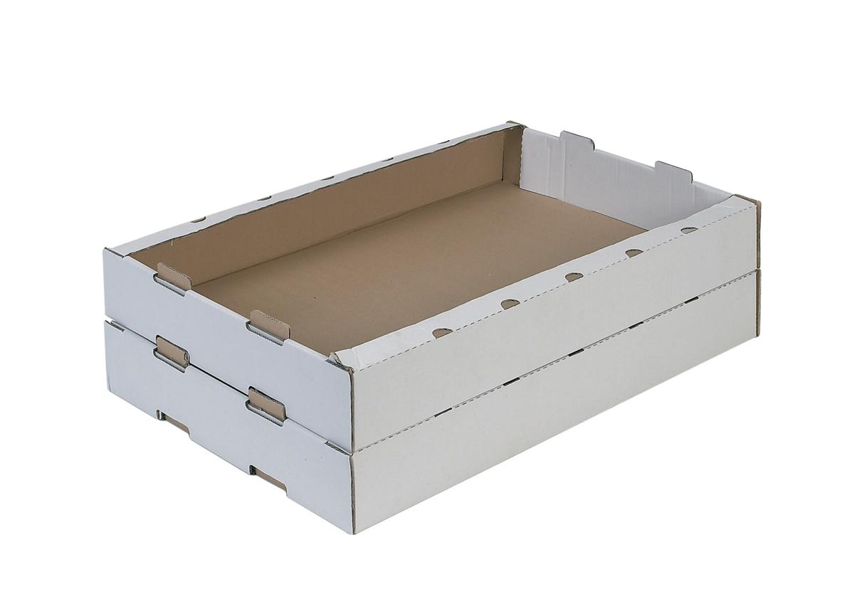 Caisse rectangulaire blanc 42x64 cm (25 pièces)