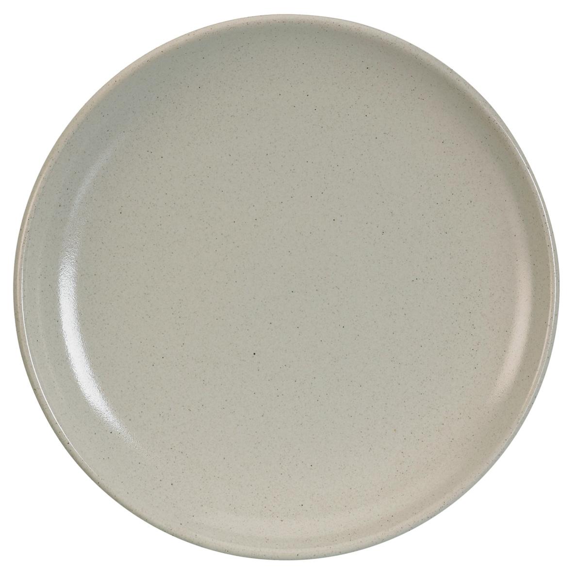 Assiette plate ronde écru grès Ø 24 cm Gres Couleur Pro.mundi