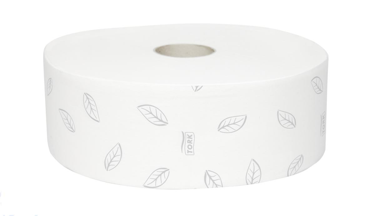 Papier jumbo blanc ouate de cellulose 360 m Tork (6 pièces)
