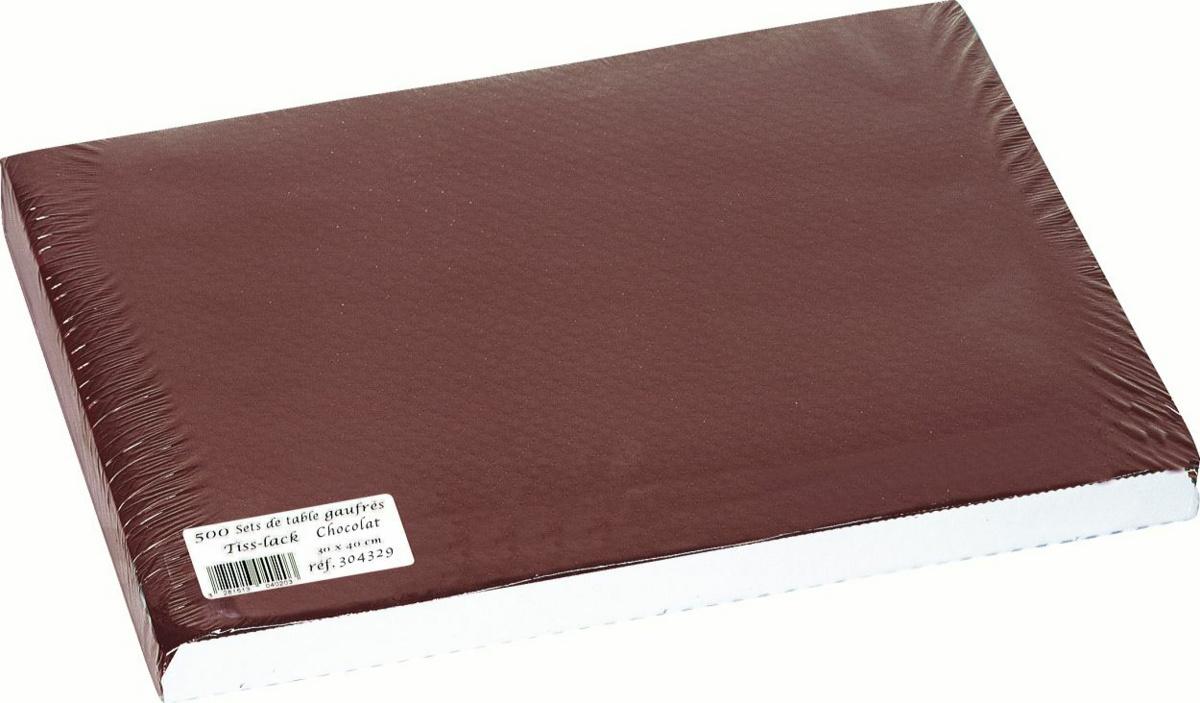 Set de table chocolat papier 40x30 cm Tisslack Cogir (500 pièces)