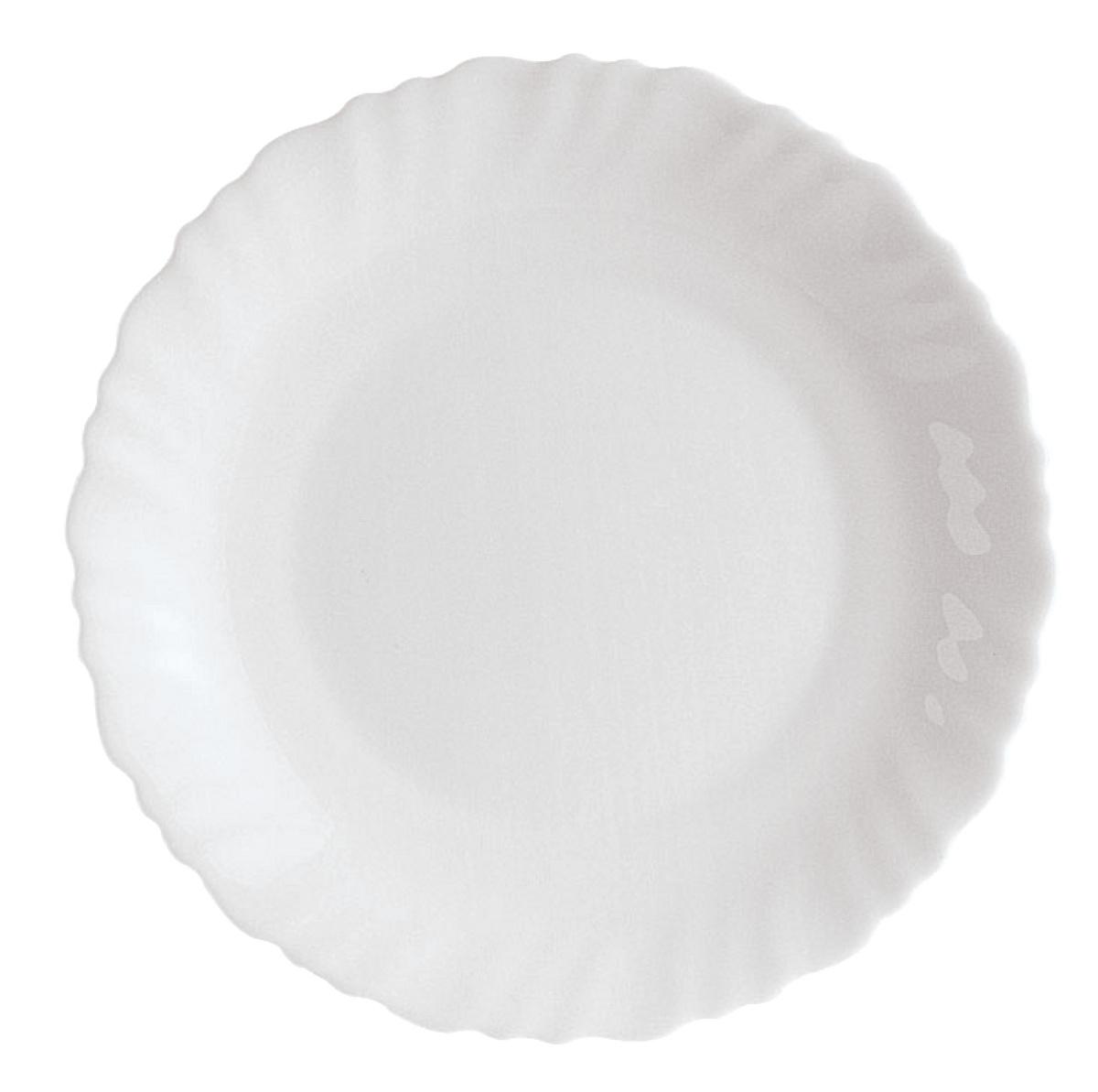 Assiette plate rond blanc Feston Arcoroc