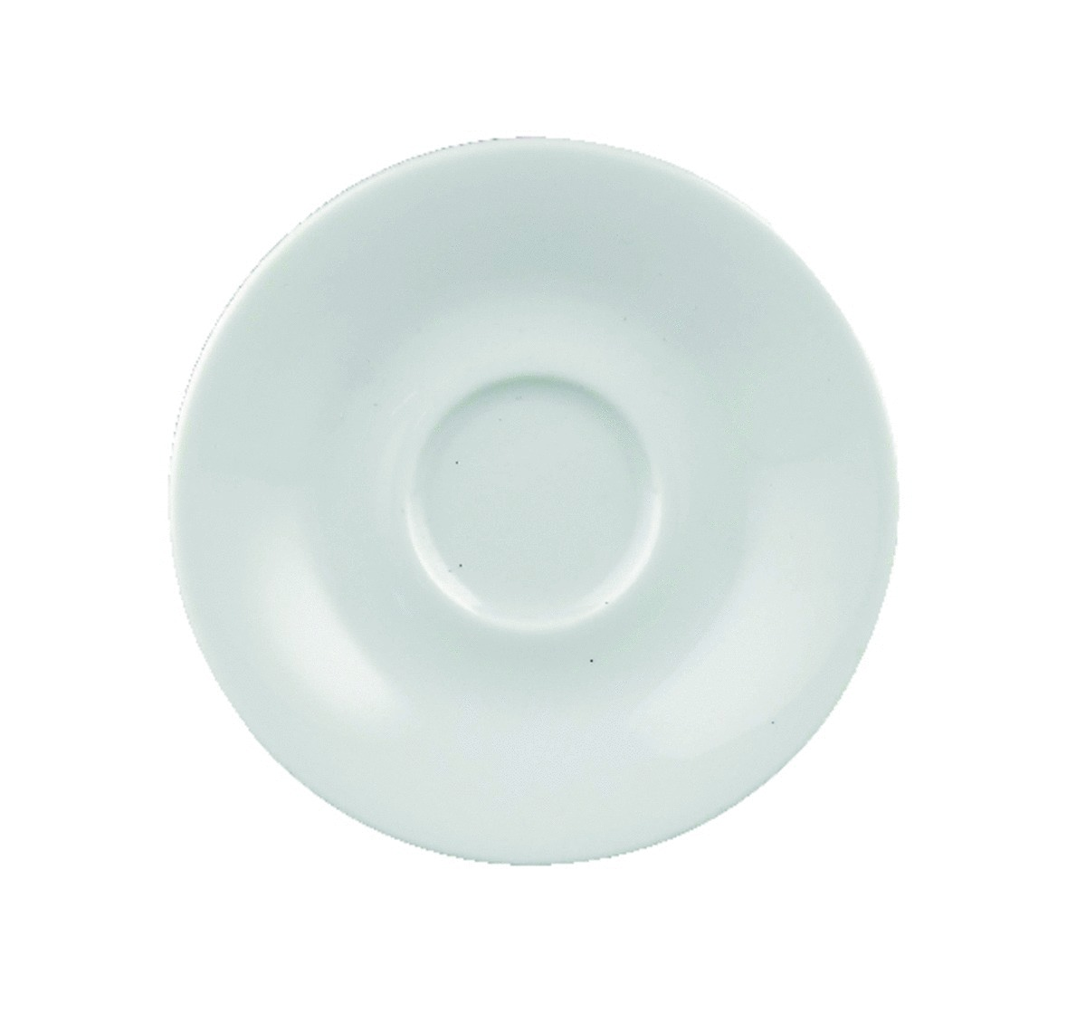 Sous-tasse à expresso ronde blanc porcelaine Ø 12 cm Paula
