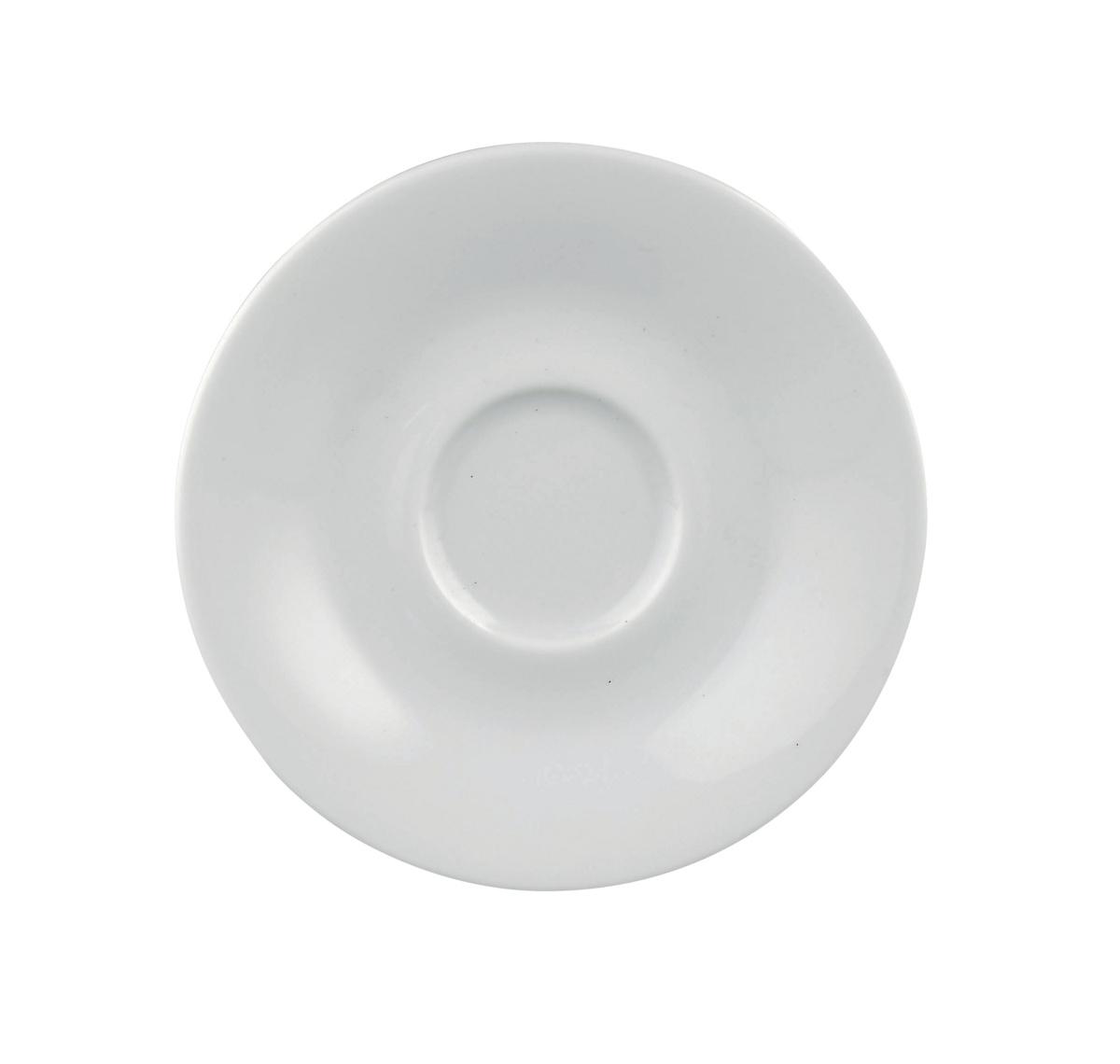 Sous-tasse à thé ronde blanc porcelaine Ø 13 cm Paula
