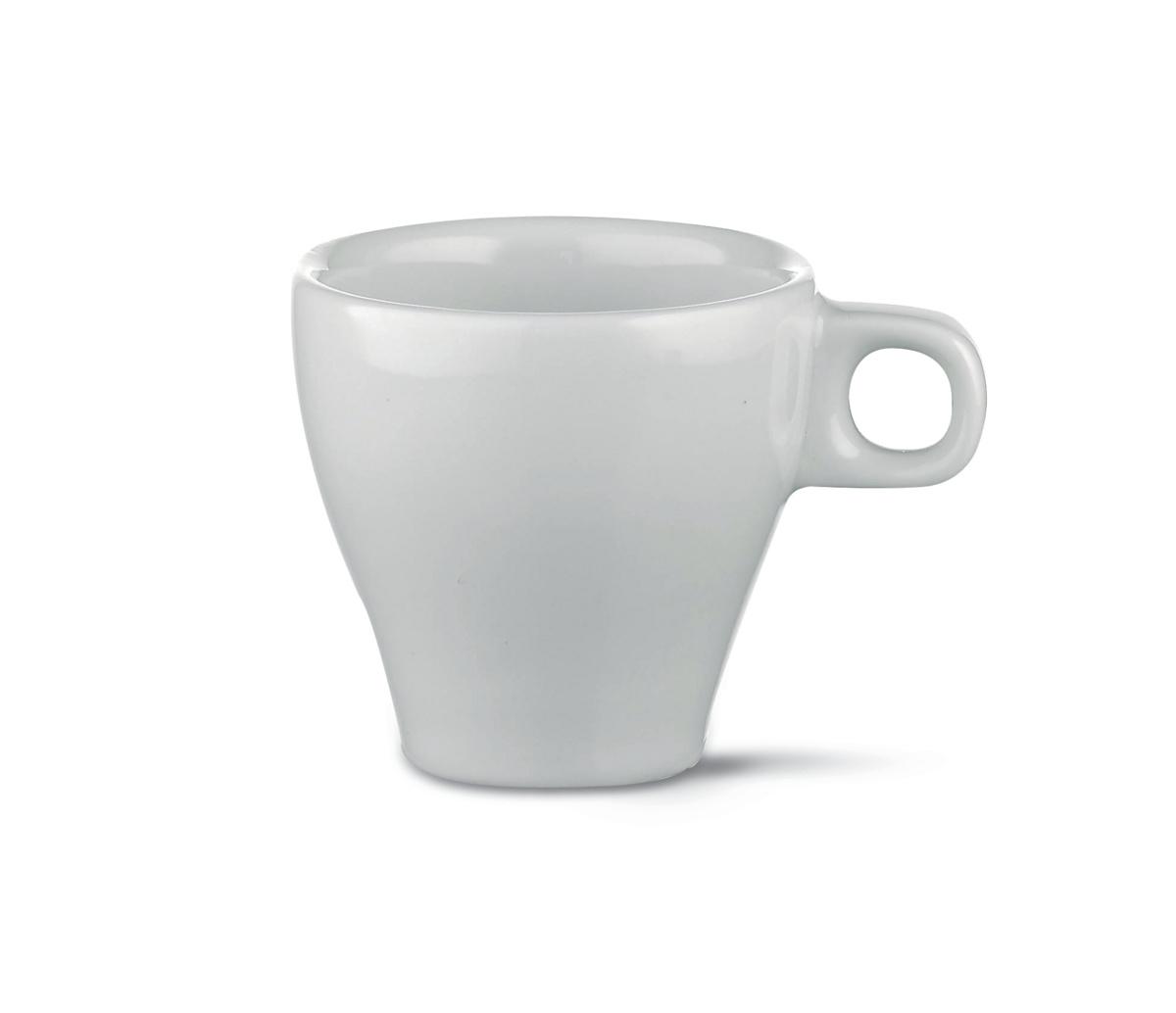 Tasse à expresso ronde blanc porcelaine 7 cl Ø 6,30 cm Paula