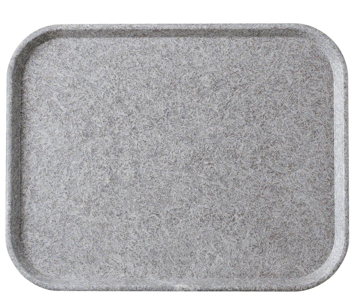 Plateau gris polyester bord droit Poly Str Platex