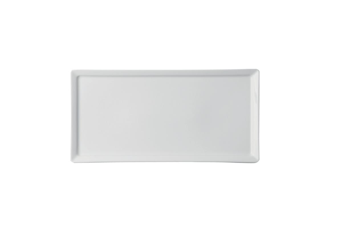 Assiette plate rectangulaire ivoire porcelaine 14x28 cm Allspice Rak