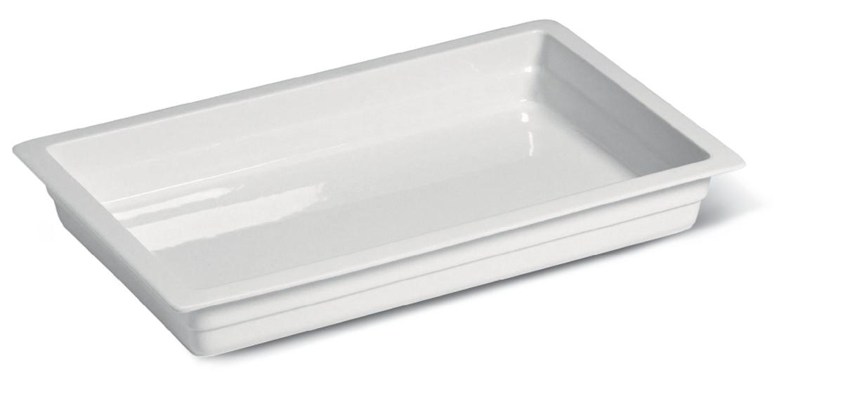 Bac rectangulaire ivoire porcelaine 200 cl 32,50 cm Range Buffet Rak