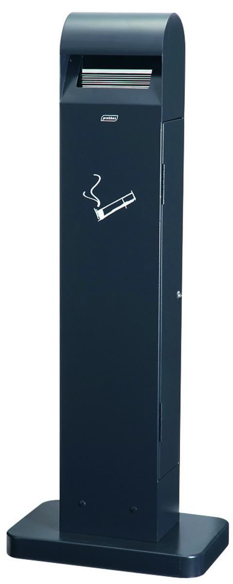 Cendrier sur pied rectangulaire gris 26x40 cm Probbax