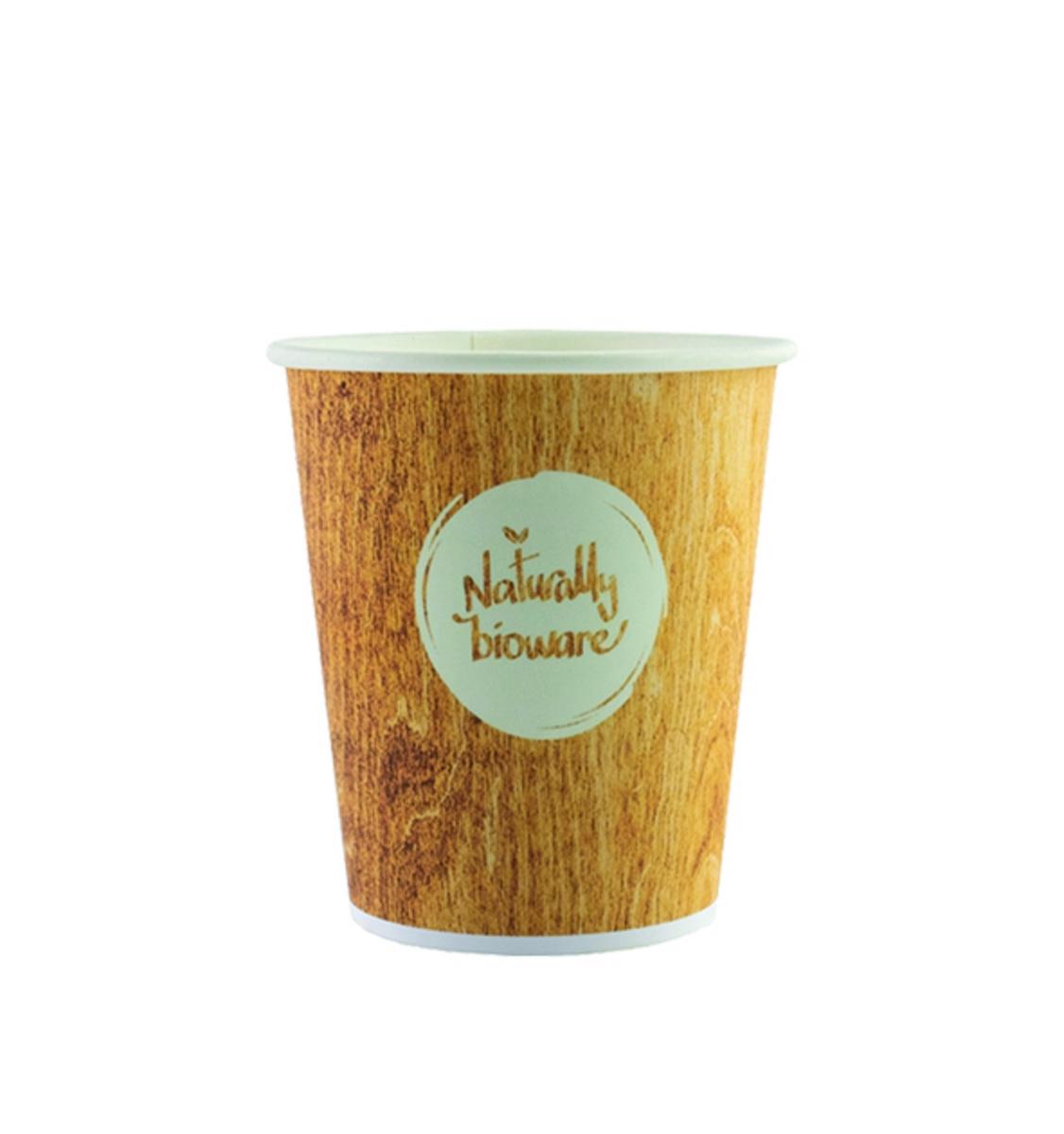 Gobelet carton 10 cl Bioware Huhtamaki (80 pièces)