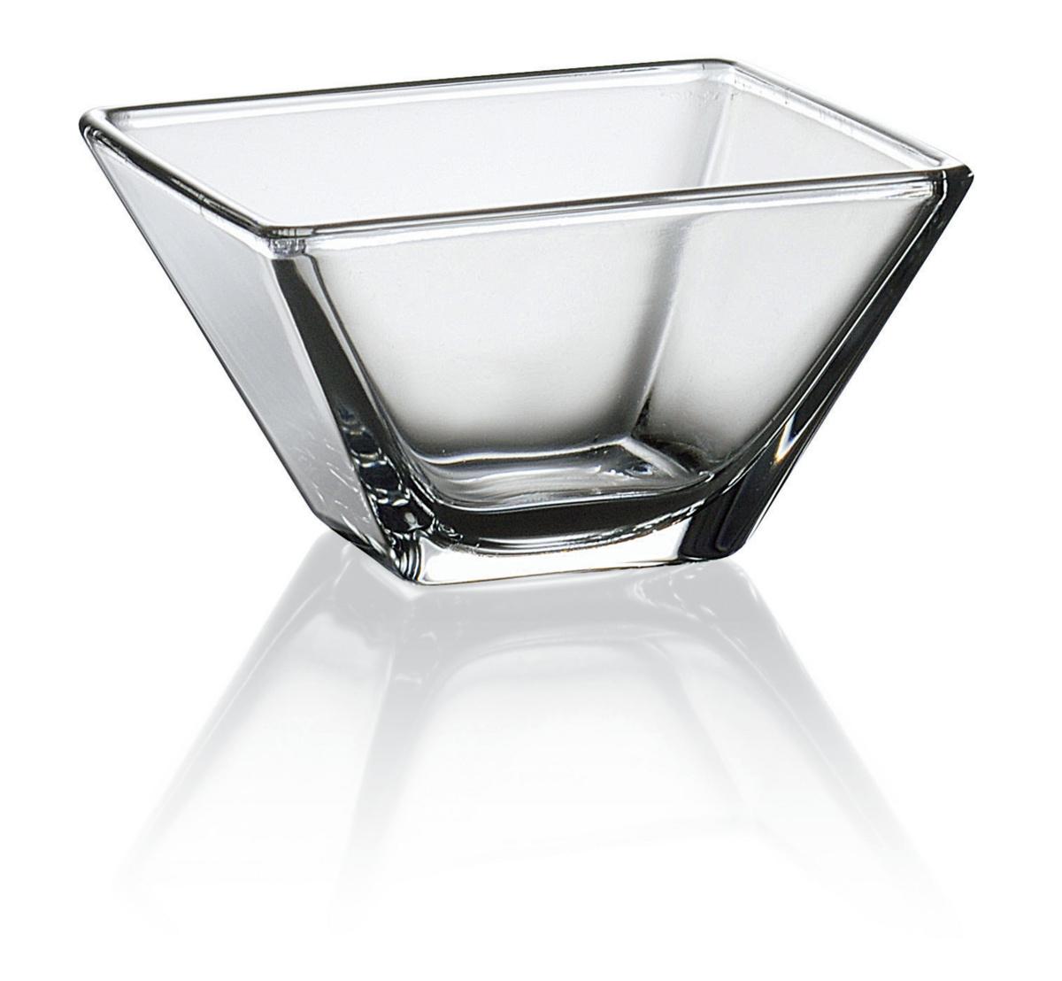 Saladier carré transparent verre 150 cl 20 cm Torcello Vidivi