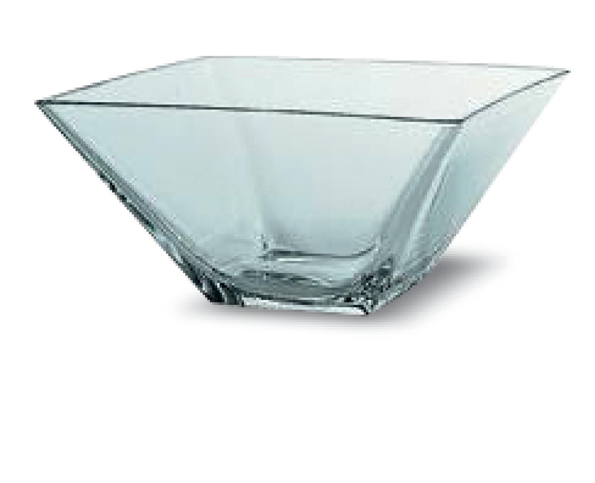 Saladier carré transparent verre 265 cl 26 cm Torcello Vidivi