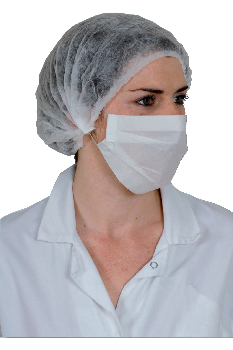 Masque de protection blanc (100 pièces)
