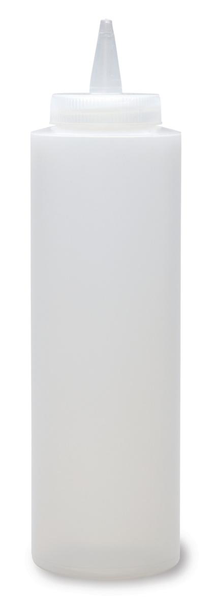 Distributeur de sauces rond transparent plastique 35 cl Ø 7 cm (4 pièces)