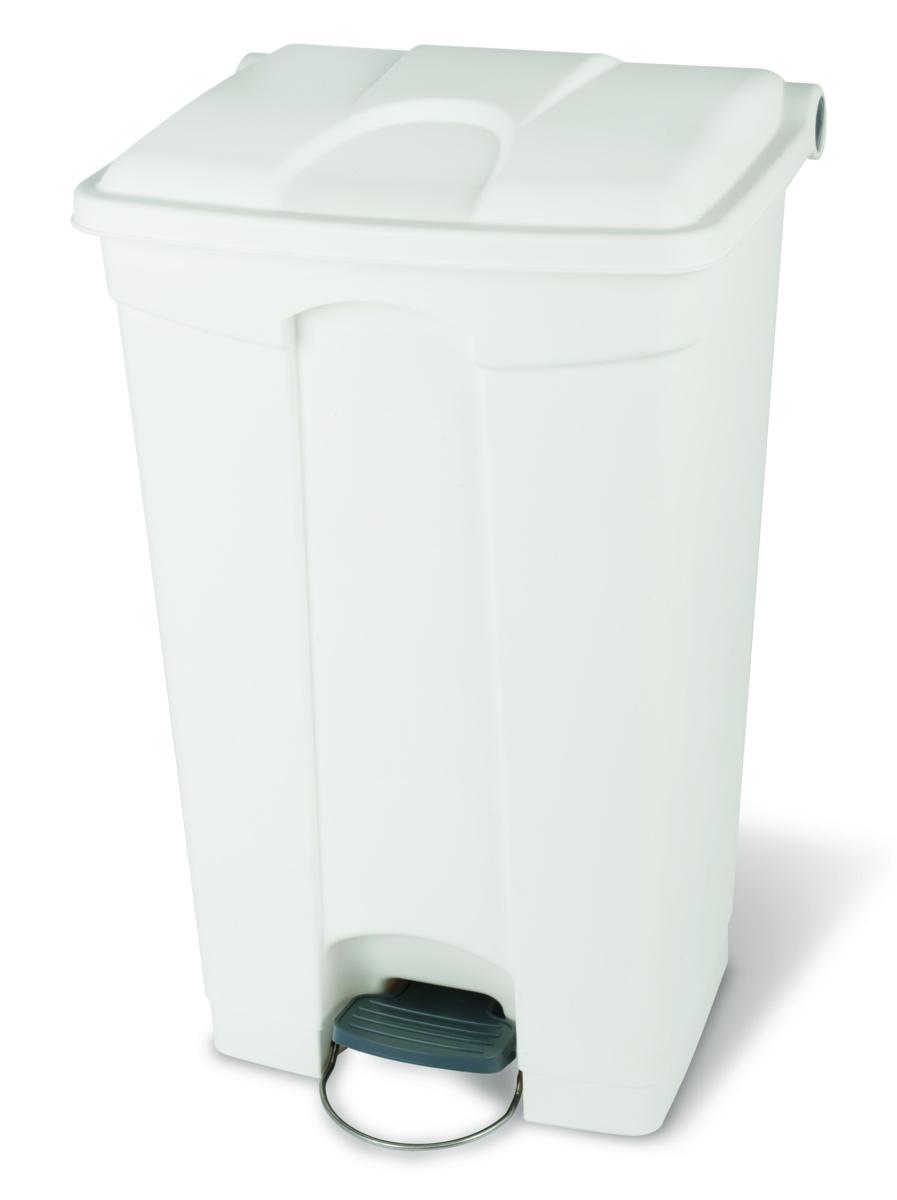 Poubelle à pédale blanc plastique 90 l Probbax