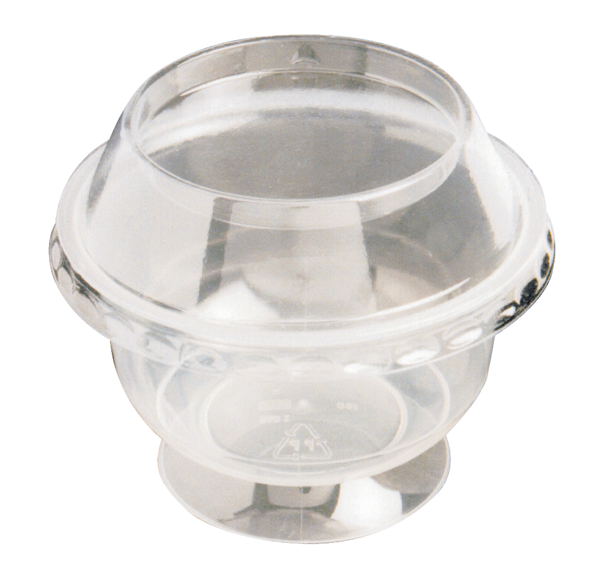 Couvercle coupe à dessert 20cl rond transparent Ø 10 cm Servipack Alphaform (50 pièces)