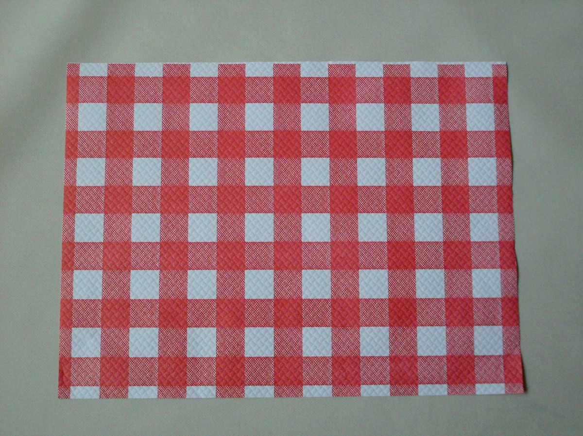 Set de table rouge papier 30x40 cm Cgmp (500 pièces)