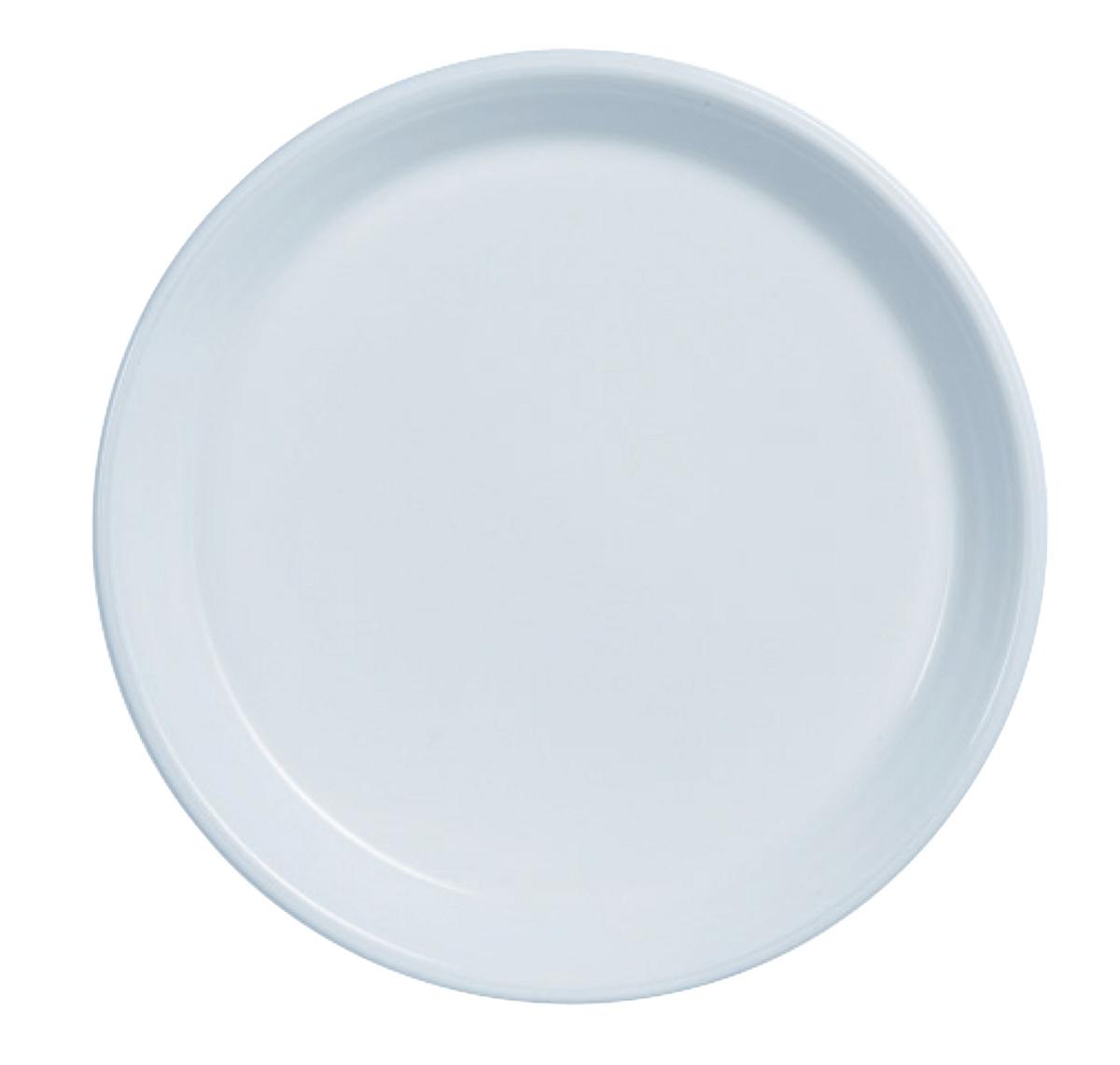 Assiette plate ronde blanc verre Ø 23 cm Heat System Arcoroc