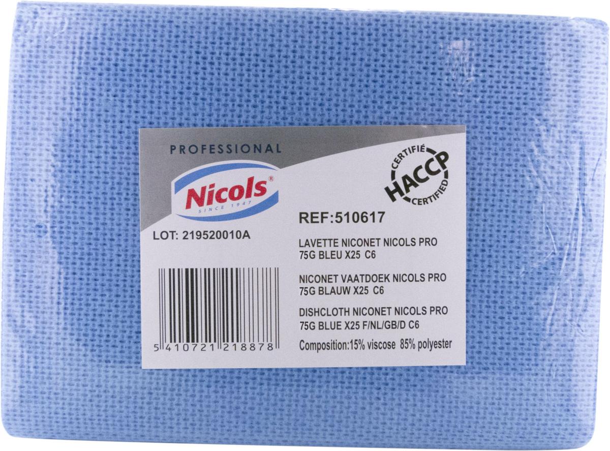 Lot de 25 lavettes non tissées bleu 36x51 cm (25 pièces)