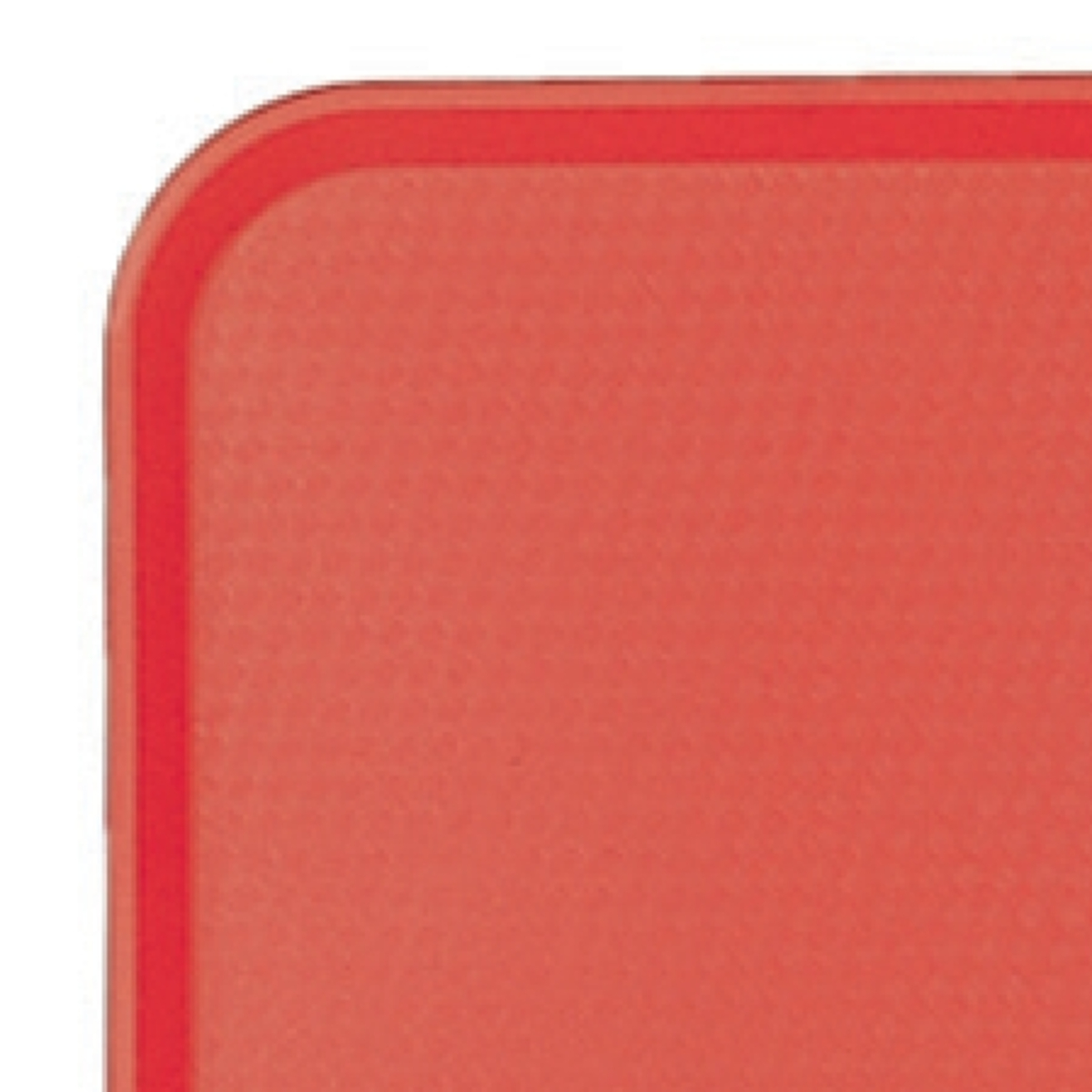 Plateau rouge plastique bord droit Fast Food Cambro