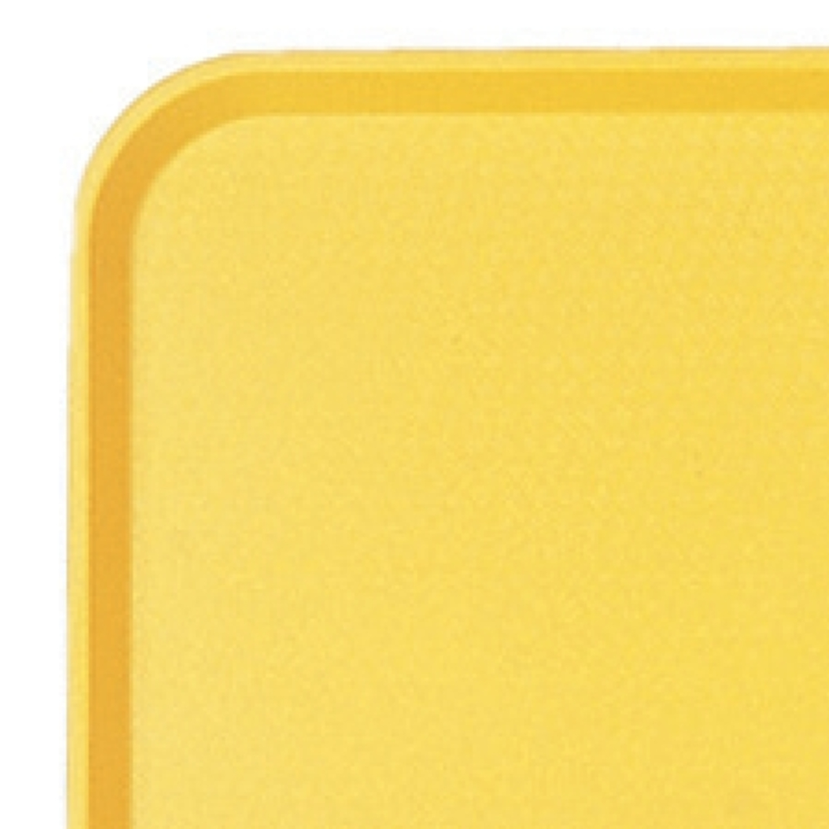 Plateau jaune plastique bord droit Fast Food Cambro