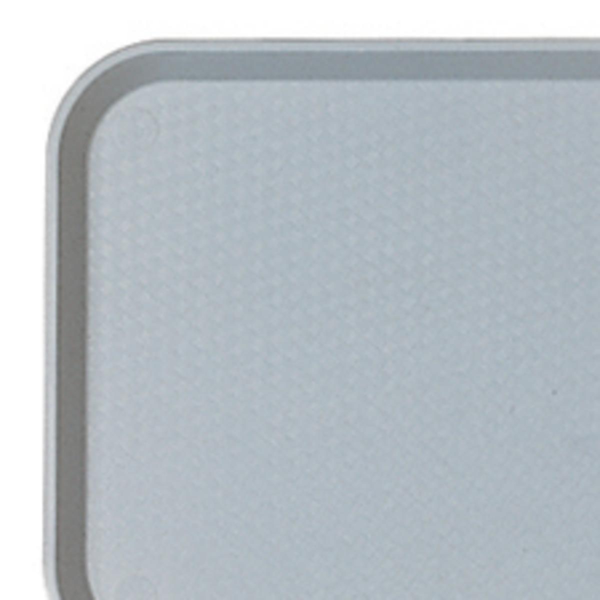 Plateau bleu plastique bord droit Fast Food Cambro