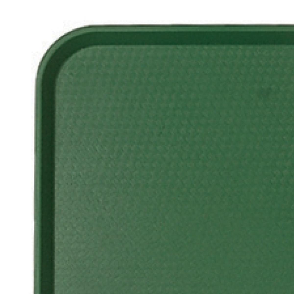 Plateau vert plastique bord droit Fast Food Cambro