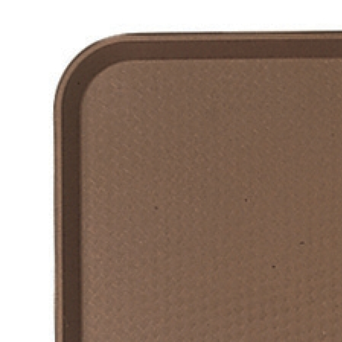 Plateau marron plastique bord droit Fast Food Cambro